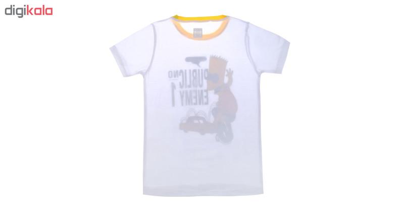 تی شرت ناوالس مدل Simpson-WH