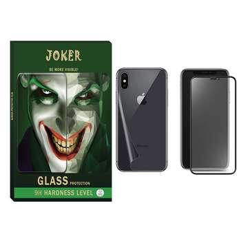 محافظ صفحه نمایش مات و پشت گوشی جوکر مدل FUM-01 مناسب برای گوشی موبایل اپل Iphone X/Xs