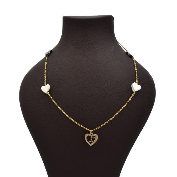 گردنبند طلا 18 عیار زنانه آمانژ طرح قلب کد 473D2919