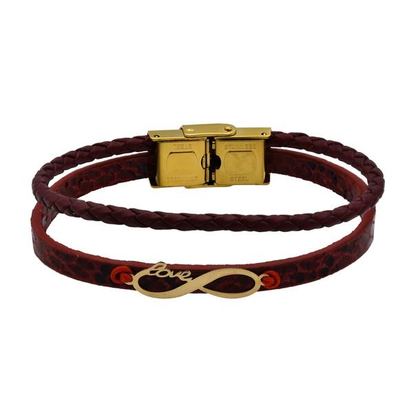 دستبند طلا 18 عیار زنانه آمانژ طرح بینهایت کد 475D2921