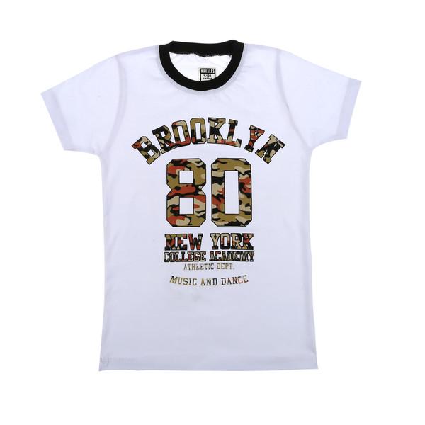 تی شرت پسرانه ناوالس مدل Brooklyn-WH