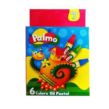 پاستل روغنی 6 رنگ پالمو کد 4654