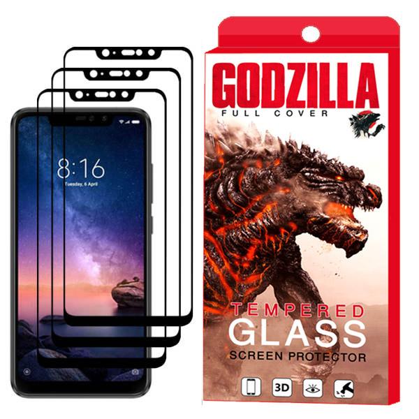 محافظ صفحه نمایش گودزیلا مدل GGF مناسب برای گوشی موبایل شیائومی Redmi Note 6 Pro بسته 3 عددی thumb