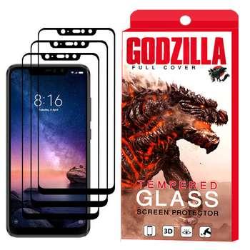 محافظ صفحه نمایش گودزیلا مدل GGF مناسب برای گوشی موبایل شیائومی Redmi Note 6 Pro بسته 3 عددی