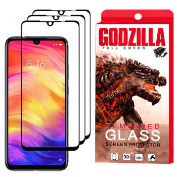 محافظ صفحه نمایش گودزیلا مدل GGF مناسب برای گوشی موبایل شیائومی Redmi Note 7 Pro بسته 3 عددی