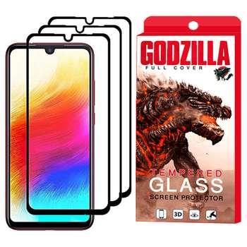محافظ صفحه نمایش گودزیلا مدل GGF مناسب برای گوشی موبایل شیائومی Redmi Note 7 بسته 3 عددی