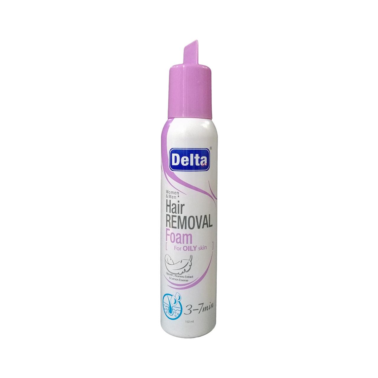 خرید                      فوم موبر دلتا مدل Oily Skin حجم 150 میلی لیتر              ✅