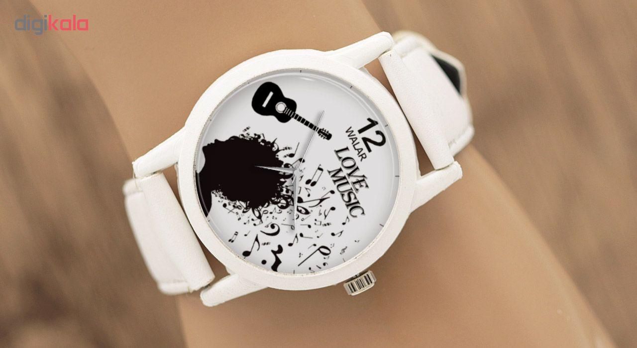 کد تخفیف                                      ساعت مچی عقربه ای والار طرح موسیقی کد LF1651