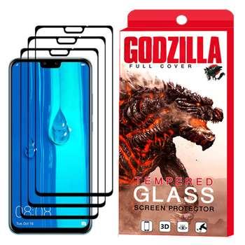محافظ صفحه نمایش گودزیلا مدل GGF مناسب برای گوشی موبایل هوآوی Y9 2019 بسته 3 عددی