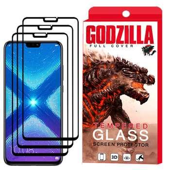 محافظ صفحه نمایش گودزیلا مدل GGF مناسب برای گوشی موبایل آنر 8X بسته 3 عددی