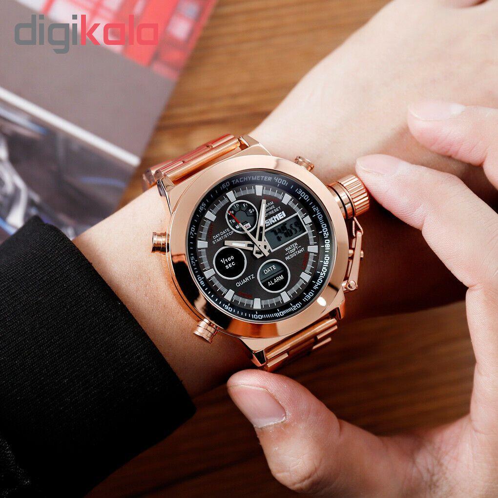 کد تخفیف                                      ساعت مچی عقربه ای مردانه اسکمی مدل 1515R