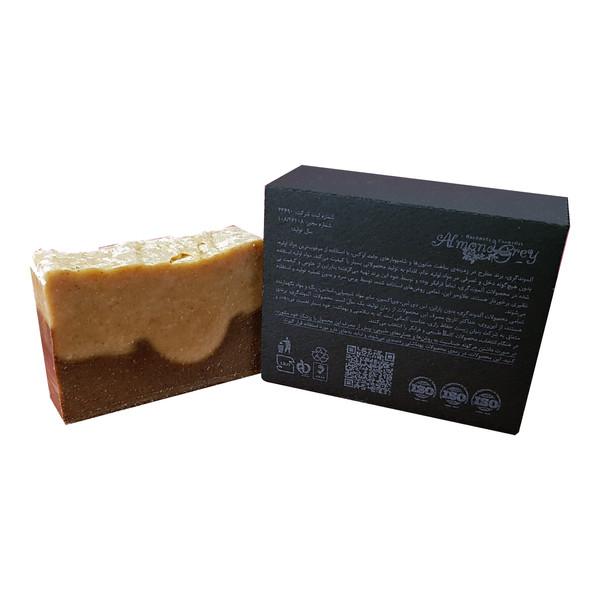 صابون شستشو آلموندگری مدل قهوه و زردچوبه وزن 95 گرم