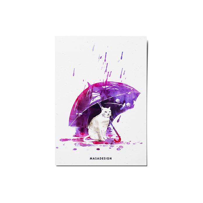 کارت پستال ماسا دیزاین طرح گربه کد POST155