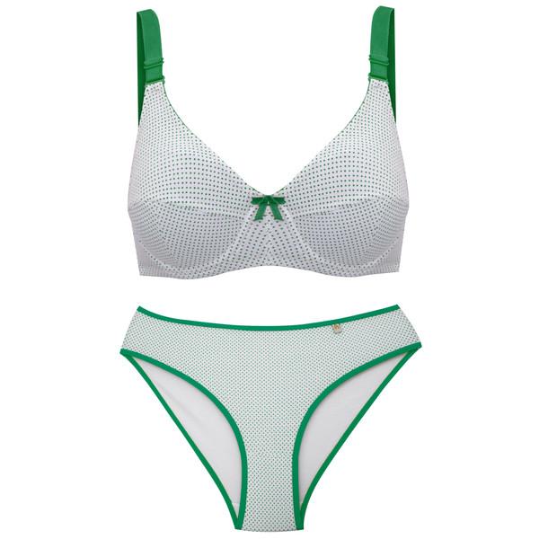 ست شورت و سوتین زنانه آوا کد HALE-6 رنگ سبز