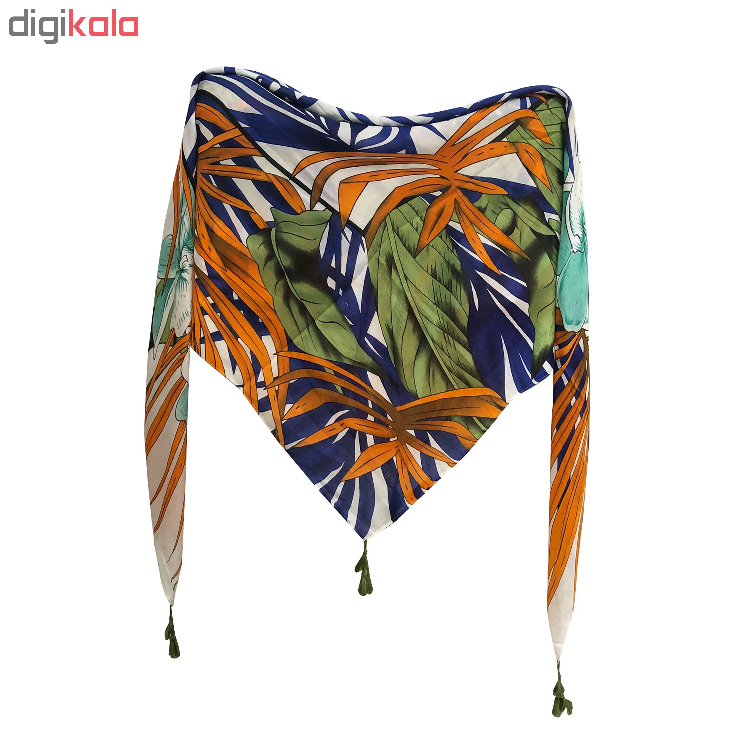 روسری زنانه طرح برگ پاییز کد PA6354