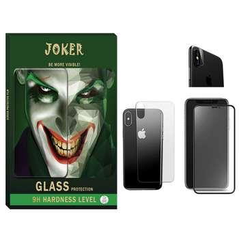 محافظ صفحه نمایش مات و پشت گوشی جوکر مدل FUM-01 مناسب برای گوشی موبایل اپل Iphone Xs max به همراه محافظ لنز دوربین