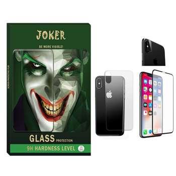 محافظ صفحه نمایش و پشت گوشی جوکر مدل FUM-01 مناسب برای گوشی موبایل Iphone Xs max به همراه محافظ لنز دوربین