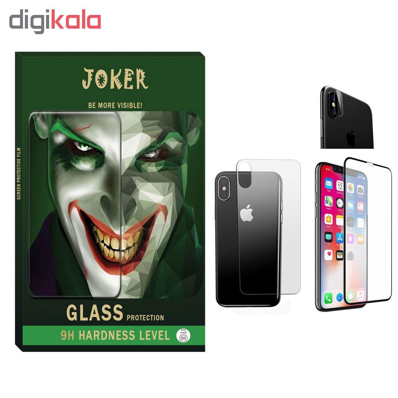 محافظ صفحه نمایش و پشت گوشی جوکر مدل FUM-01 مناسب برای گوشی موبایل Iphone X/Xs به همراه محافظ لنز دوربین main 1 1
