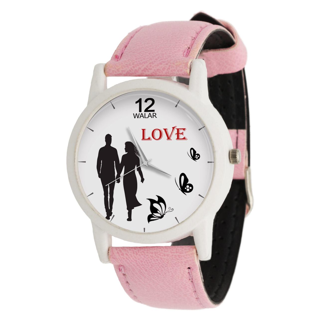 ساعت مچی عقربه ای زنانه والار طرح LOVE کد LF1742
