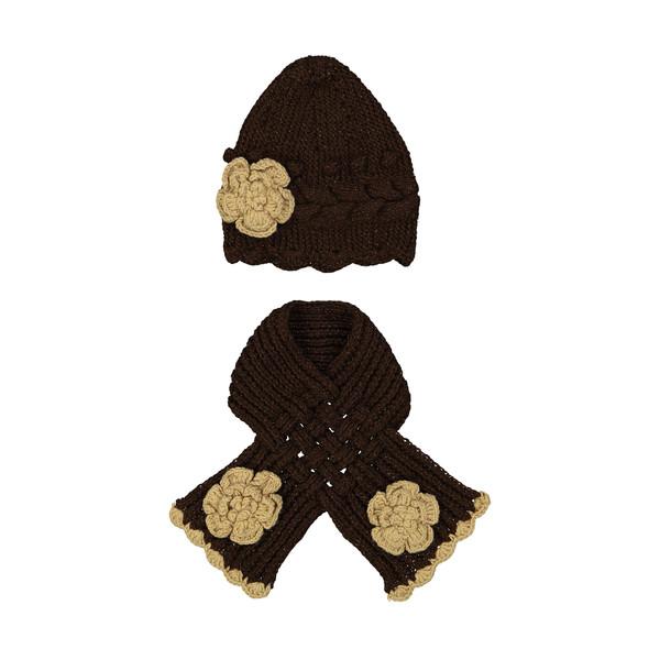 ست کلاه و شال گردن بافتنی کد HYN1