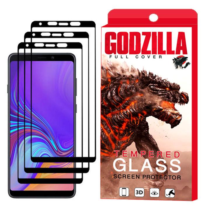محافظ صفحه نمایش گودزیلا مدل GGF مناسب برای گوشی موبایل سامسونگ Galaxy A9 2018 بسته 3 عددی
