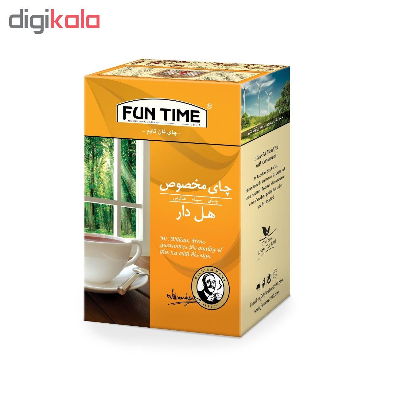 چای مخصوص هل دار فان تایم وزن 450 گرم