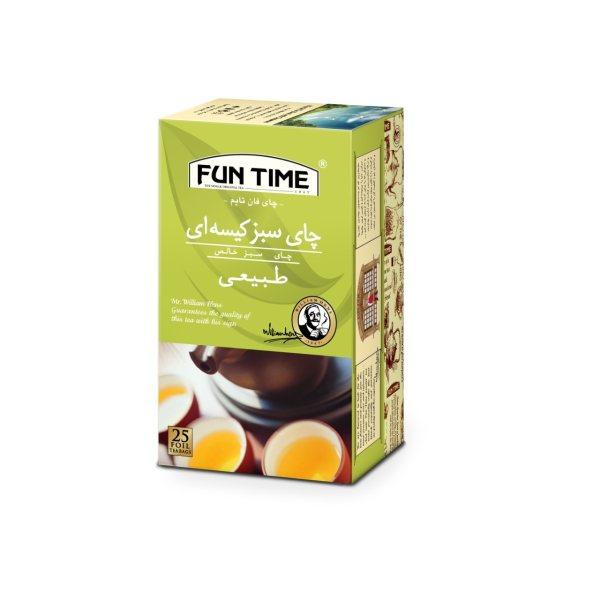 چای سبز کیسه ای فان تایم بسته 25 عددی