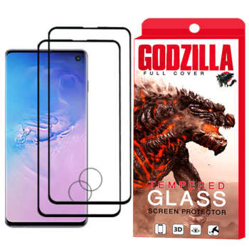 محافظ صفحه نمایش گودزیلا مدل GGF مناسب برای گوشی موبایل سامسونگ Galaxy S10 بسته 2 عددی