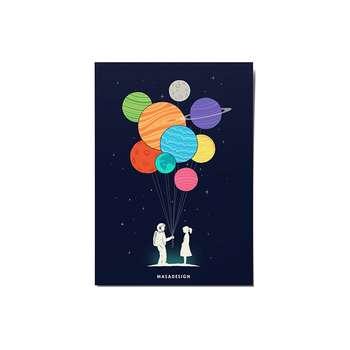 کارت پستال ماسا دیزاین طرح دوستی کد POST172