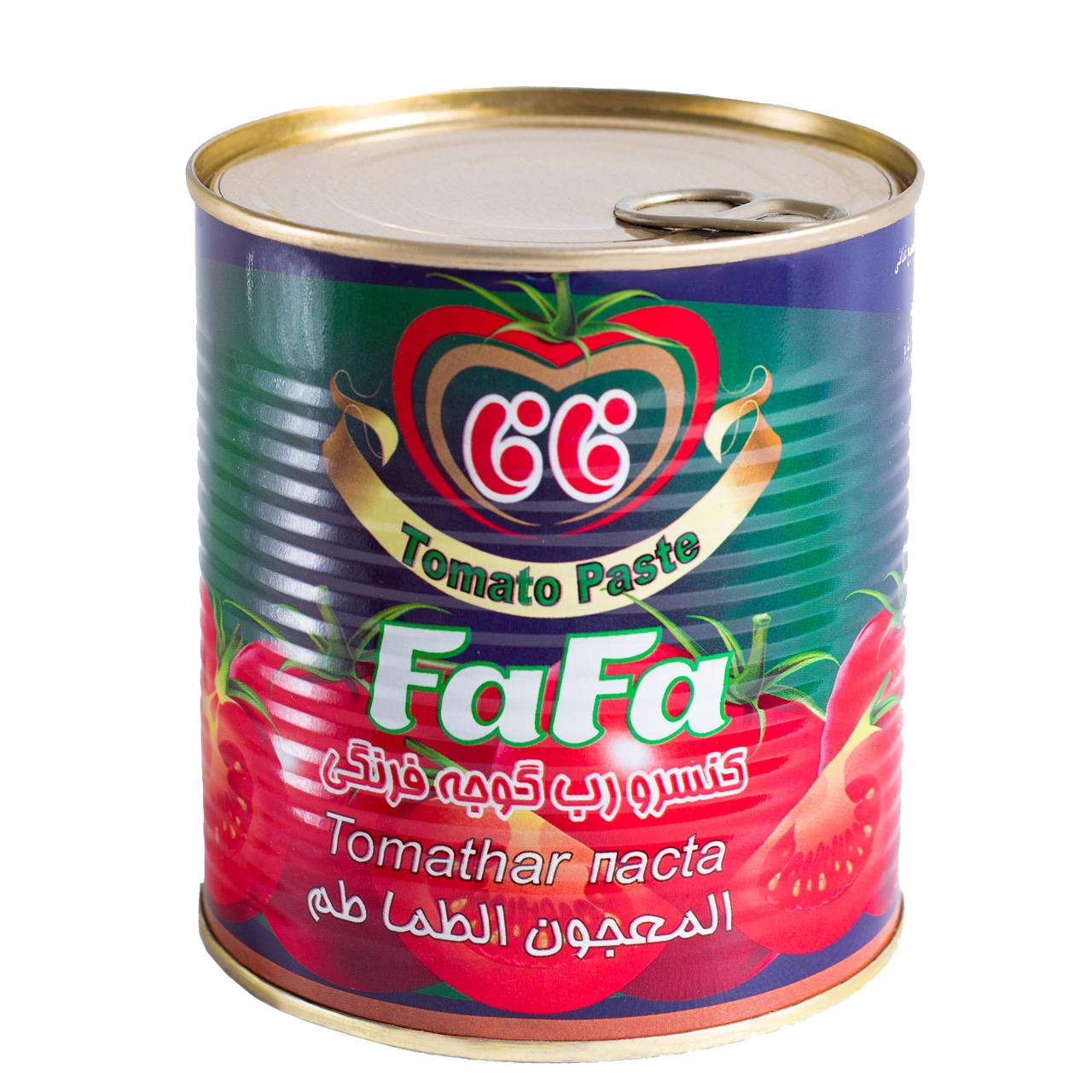 کنسرو رب گوجه فرنگی فافا مقدار 800گرم
