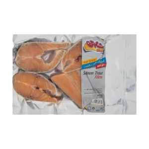 استیک منجمد قزل سالمون شارین مقدار 500 گرم