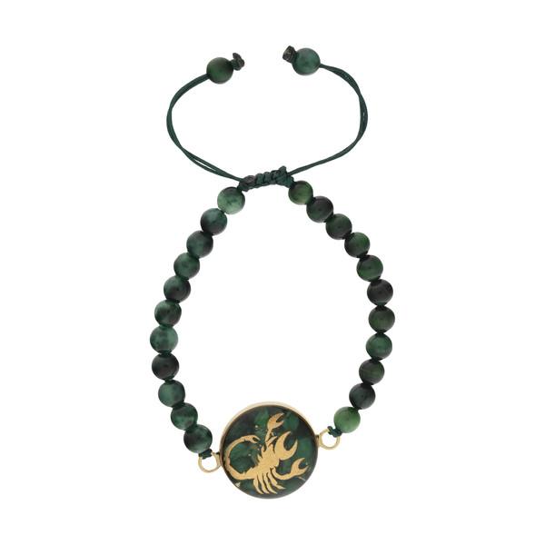 دستبند طلا 24 عیار زنانه سام نورزاده طرح ماه آبان کد 74