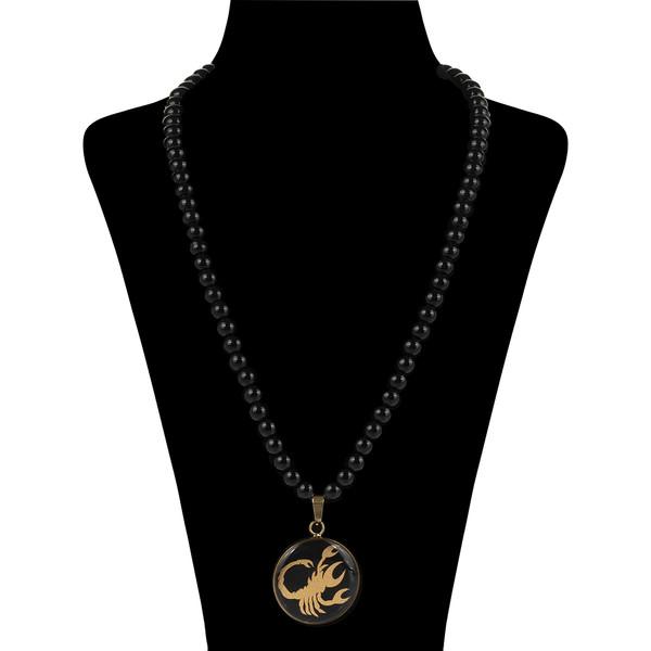 گردنبند طلا 24 عیار زنانه سام نورزاده طرح ماه آبان کد 75
