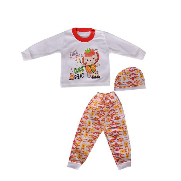 ست 3 تکه لباس نوزادی کد 10-820