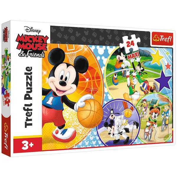 پازل 24 تکه ترفل مدل Mickey Mouse
