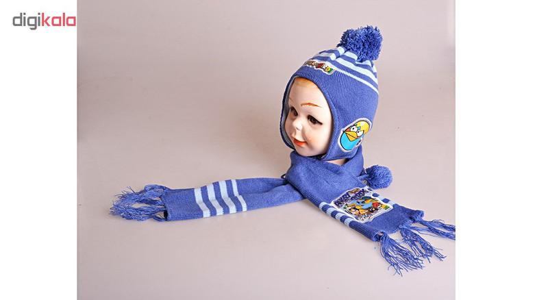 ست کلاه و شال گردن مدل Angry-ABTIR