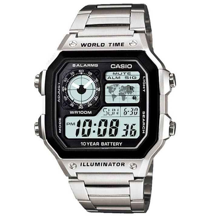 قیمت و خرید                      ساعت مچی دیجیتال مردانه کاسیو مدل  AE-1200WHD _ 001