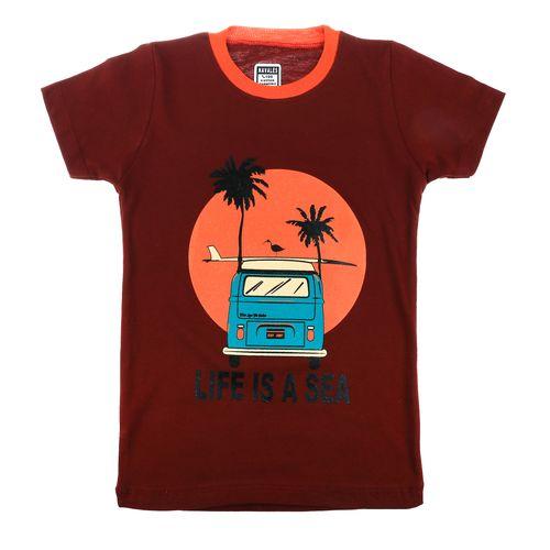 تی شرت ناوالس مدل LifeIsAsea-CR