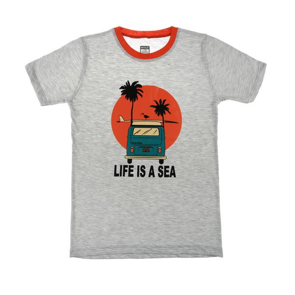 تی شرت ناوالس مدل LifeIsAsea-GY
