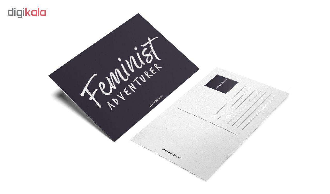 کارت پستال ماسا دیزاین طرح فمنیست کد POST189