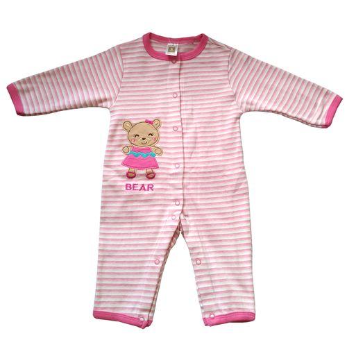 سرهمی نوزادی دخترانه طرح راه راه خرسی کد MK-001