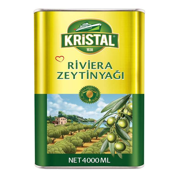روغن زیتون تصفیه شده کریستال طلایی - 4 کیلوگرم