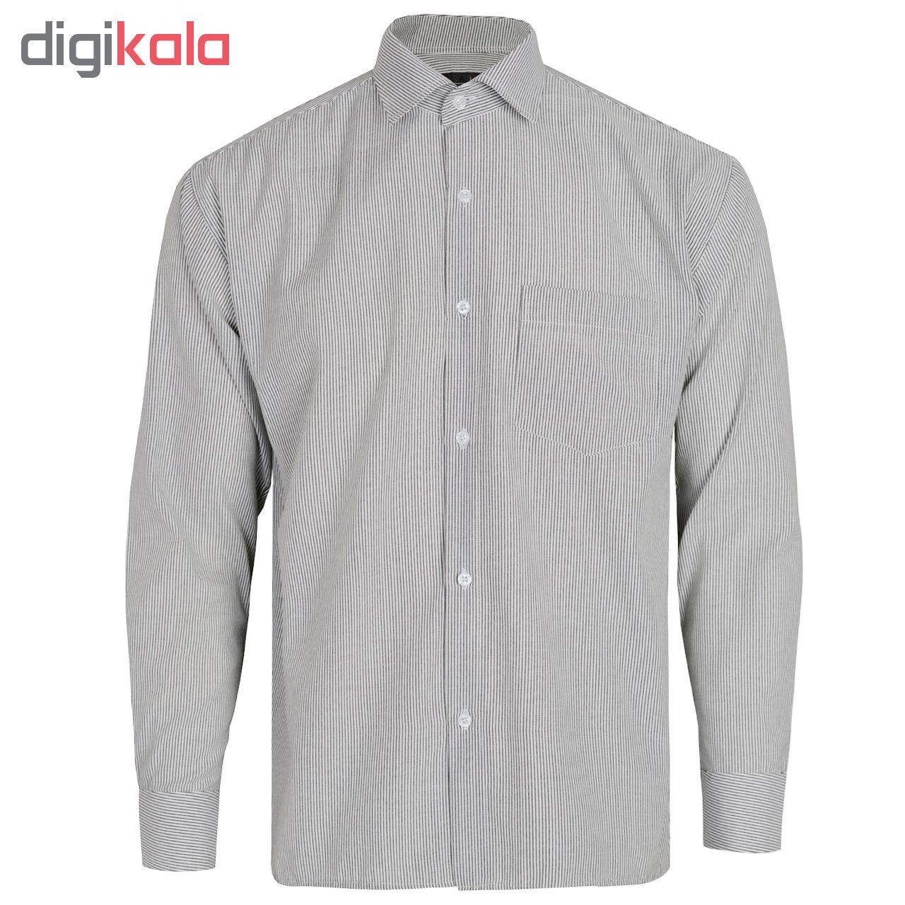 پیراهن آستین بلند مردانه کد SMSH3002