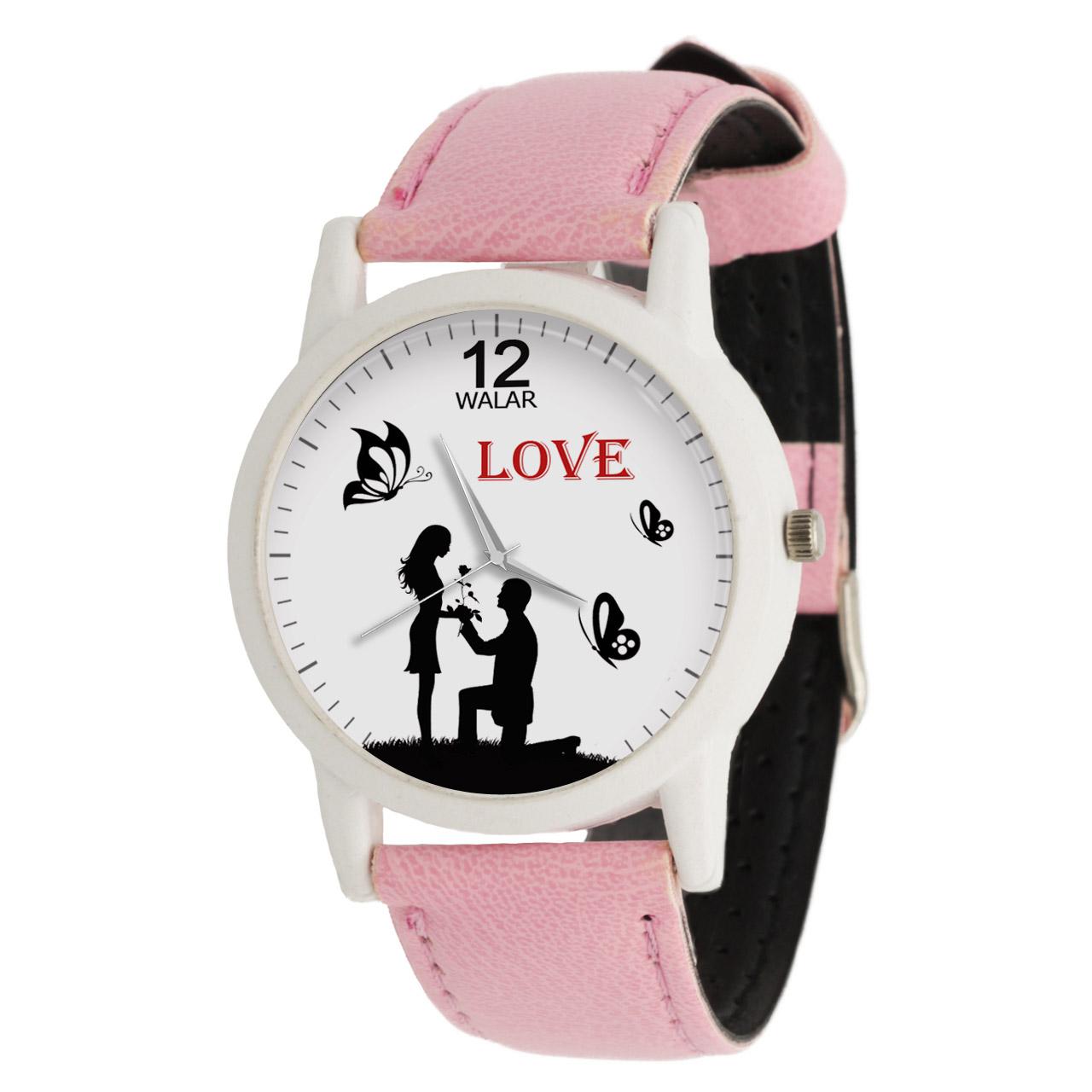 ساعت مچی عقربه ای زنانه والار طرح LOVE کد LF1741