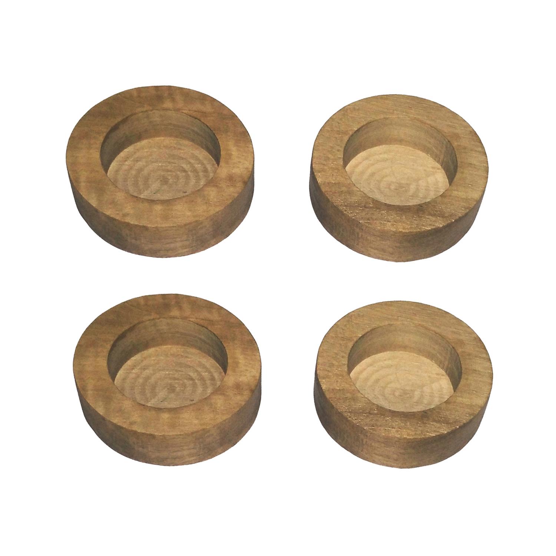 جاشمعی چوبی مدل 114 بسته چهار عددی