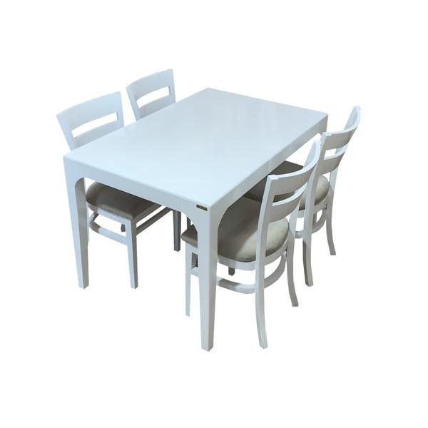 میز و صندلی ناهار خوری اسپرسان چوب کد Sm57