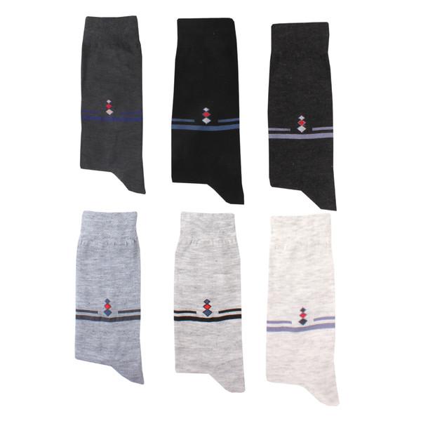 جوراب مردانه کد 001 مجموعه 6 عددی