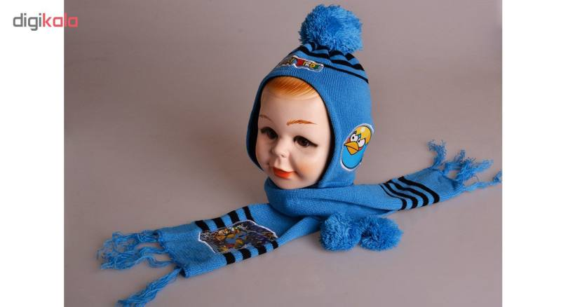 ست کلاه و شال گردن مدل Angry-ABROSH