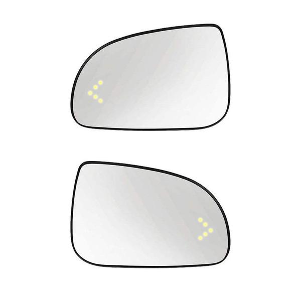 شیشه آینه جانبی خودرو مدل kh221 مناسب برای تیبا بسته دو عددی