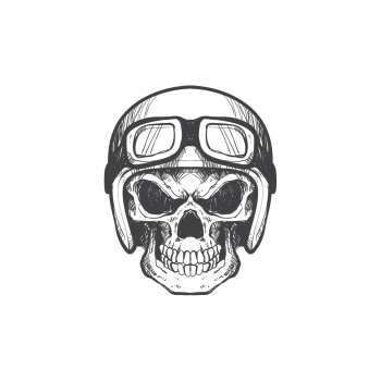 استیکر لپ تاپ گراسیپا طرح  Skull کد ۰۱